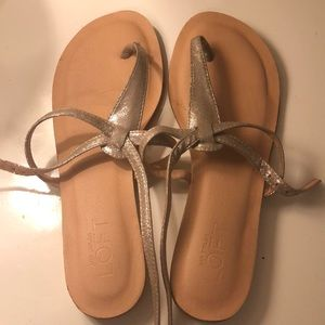 Loft metallic sandals